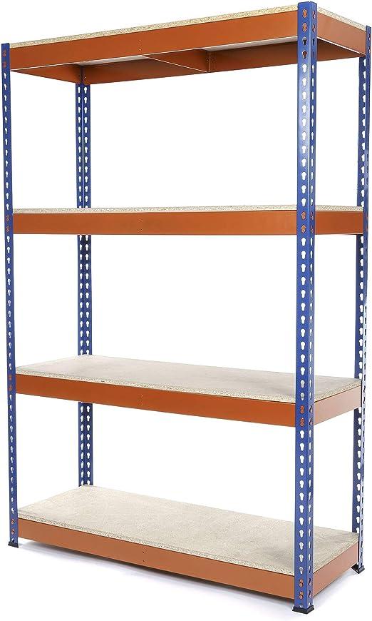 Racking Solutions - Estantería/Estante del garaje/Sistema de almacenamiento de acero, cargas pesadas, capacidad de carga total 1600kg (4 niveles ...