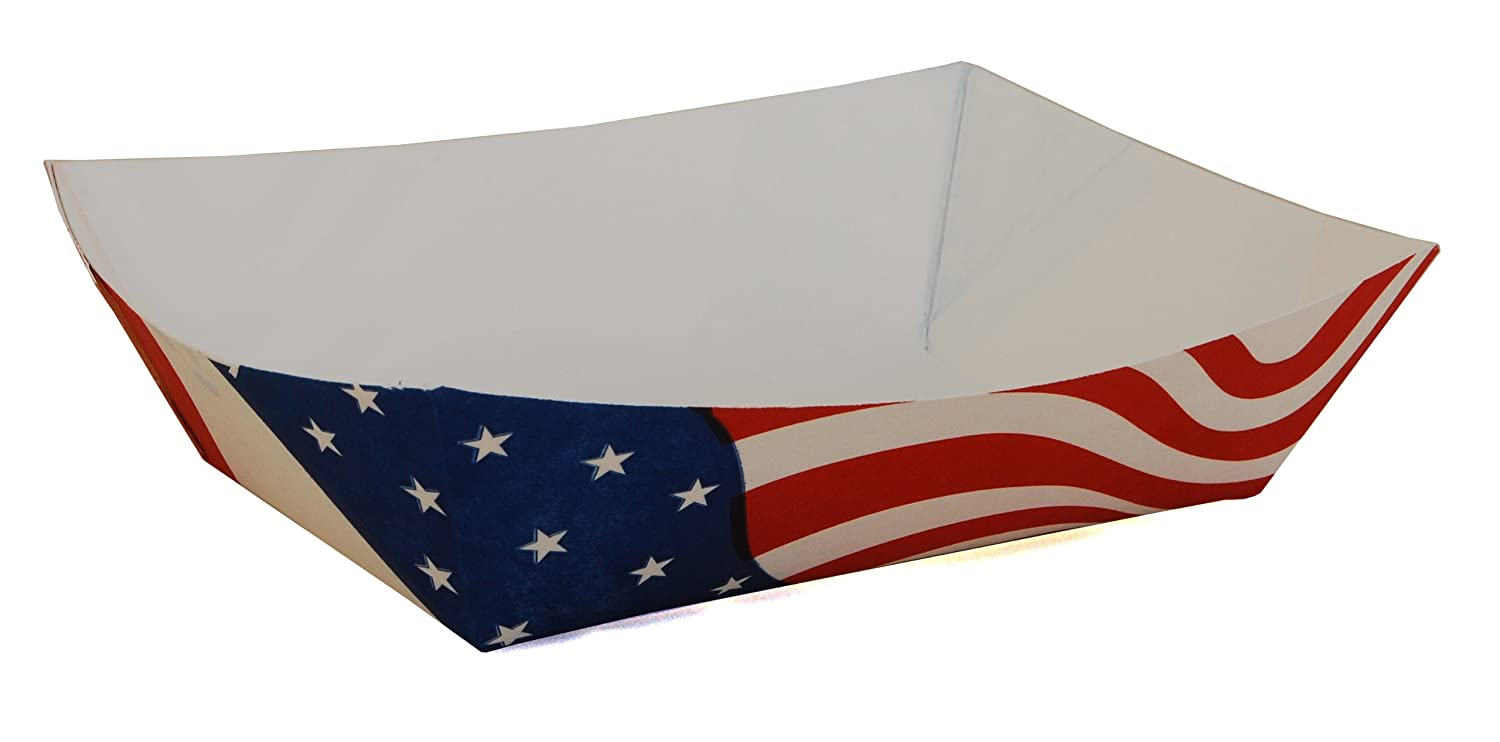 Southern Champion Tray 0535 #250 Paperboard USA Flag Food Tray, 2-1/2 lbs Capacity (Case of 500)