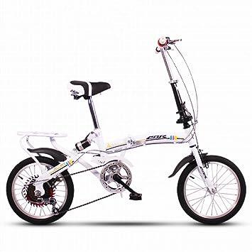 YEARLY Bicicleta plegable infantil, Bicicleta plegable estudiante Ligero Mini Portátil pequeño Amortiguador Variable 6 velocidad
