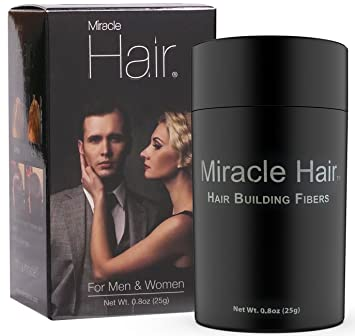 Miracle Hair  Black – Hair Loss Concealer – Highest Quality Natural Hair  Building Fibers Thickens 83e9c47f8