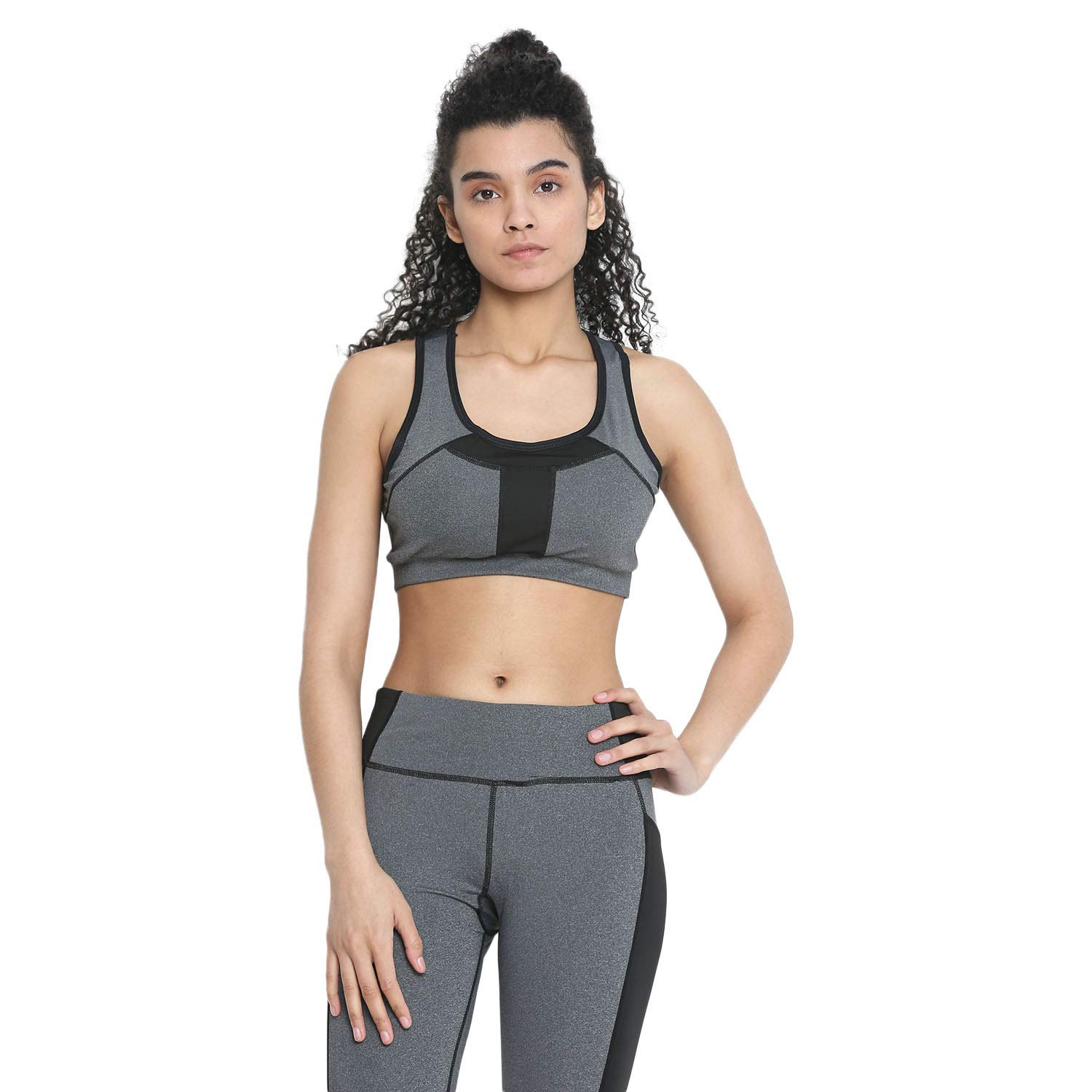 25dcb1152984a CHKOKKO Sports Bra and Yoga Pant Gym Wear Fitness Training Set for Women:  Amazon.in: Clothing & Accessories