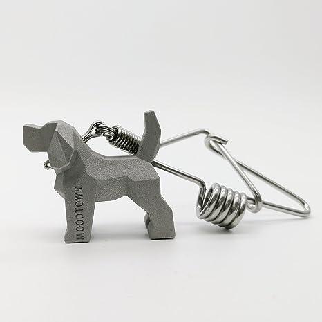Amazon.com: MOODTOWN - Llavero de acero inoxidable hecho a ...