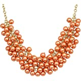 Crunchy Fashion Jewellery Stylish Gold Plated Pearl Necklace for Girls / Women