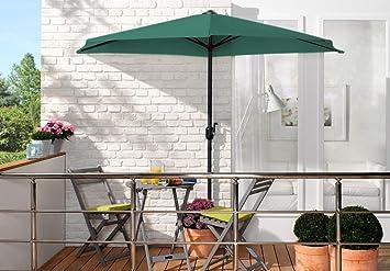 Wohnwohl Wall Balcony Parasol Sun Garden Patio Umbrella Parasol