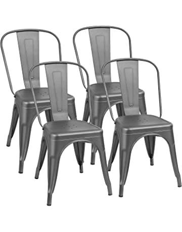 113a51cfad8 Furmax Metal Dining Chair Indoor-Outdoor Use Stackable Classic Trattoria  Chair Chic Dining Bistro Cafe.  2
