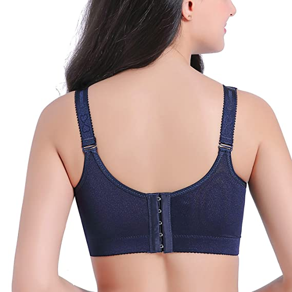 f414b4cf7c267 Beautifirm Women s Bralette Big Size Wire-Free Comfort Strap Minimizer with Lace  Plus Size Sexy Bra at Amazon Women s Clothing store