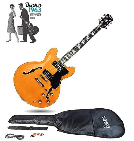 Juego de guitarra eléctrica semiacústica de cuerpo hueco con doble ...