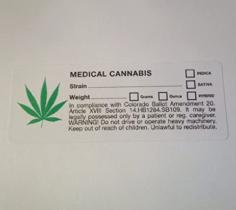 Colorado co compliant marijuana labels 1000 pcs green leaf cannabis sticker identifier 420