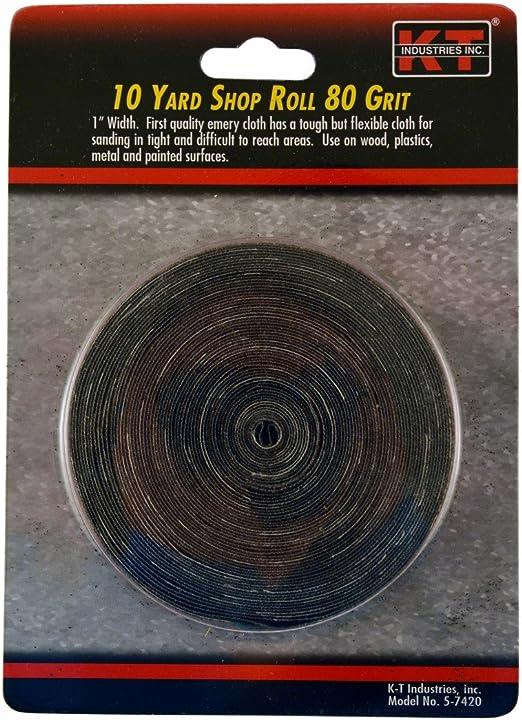"""K-T Industries 5-7421 Emery Cloth Shop Roll 1 /"""" X 10 Yard 120 Grit"""