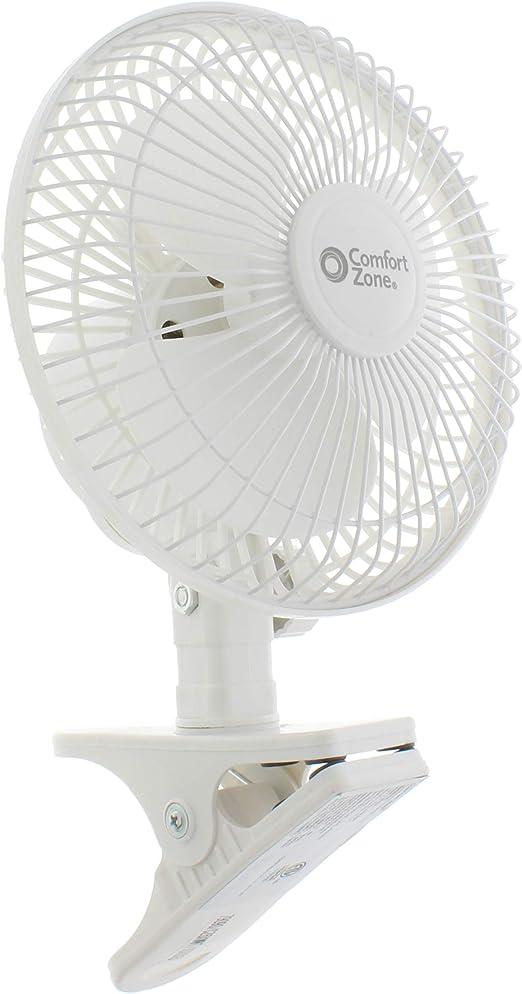 Comfort Zone CZ6C 6-inch Quiet Portable Indoor 2-Speed Desk Fan