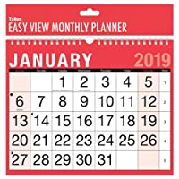 2019 A4 Easy Month To View Spiral Bound Wall Planner Calendar - Landscape - home office work