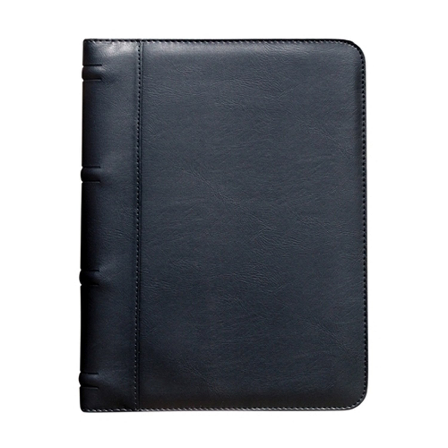 Padfolio, BuyAgain G-9 Soft Leatherette Black Business Resume document Organizer Padfolio Portfolio Holder With Multiple Pockets & ID card window.