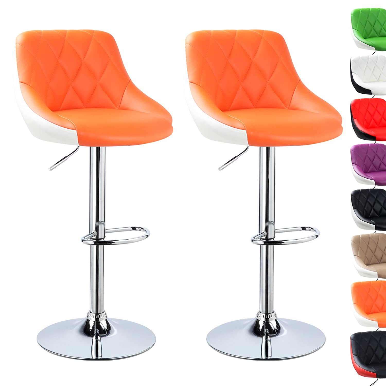 Orange Modern Bar Stools Ospdesigns Bristow In Antique