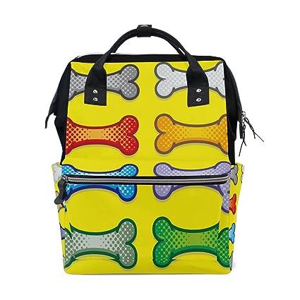 Bolsas para pañales de bebé con diseño de perro galletas de estilo artístico para pañales de