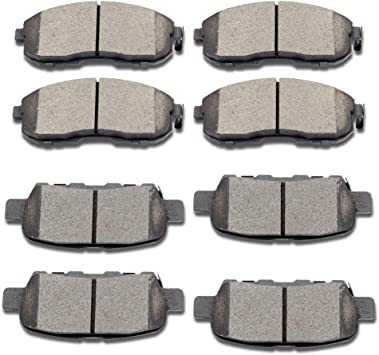 Front and Rear Brembo Ceramic Brake Pad Set Kit For Infiniti G35 2003-2004 Coupe