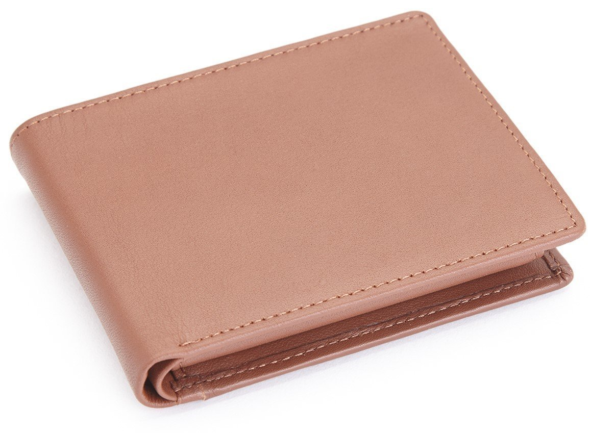 Royce Leather RFID Blocking Executive Bifold Wallet in Leather, Tan by Royce Leather