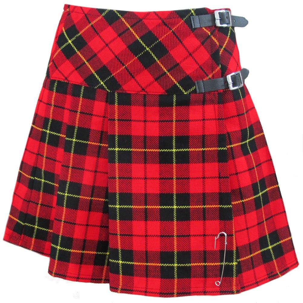 Tartanista - Mini Kilt/Jupe écossaise - Sangles en Cuir/Broche - 50, 8 cm (20'') - Tartan Wallace KA-SKIRT_20_WALLACE
