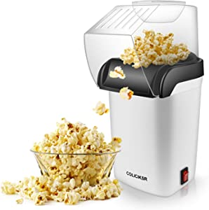 Hot Air Popcorn Maker,Fast Table Electric Popcorn Popper with Wide Mouth Design, ETL Certified, BPA-Free, No Oil Required Popcorn Machine for Home Movie Theater. (Hot Air Popcorn Maker)