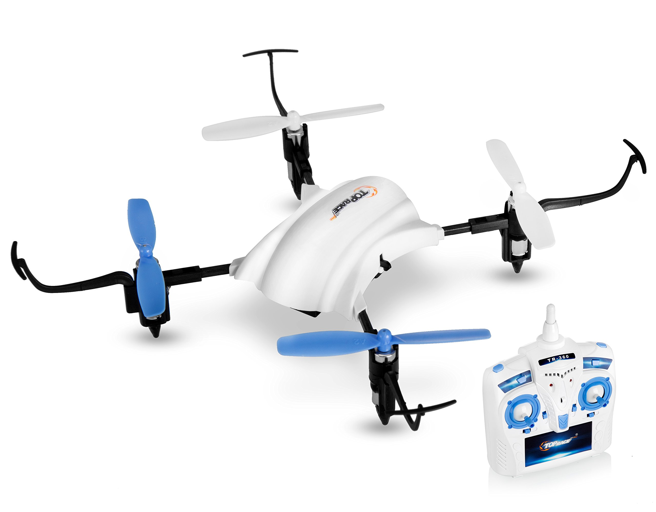 Top Race Stunt Drone, Flies Upside Down, 180 and 360 Degree Flips, 2.4Ghz Quadcopter Mini Drone (TR-360)
