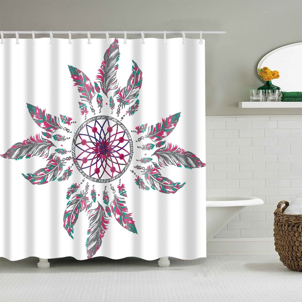 Amazon Colorful Boho Shower Curtain