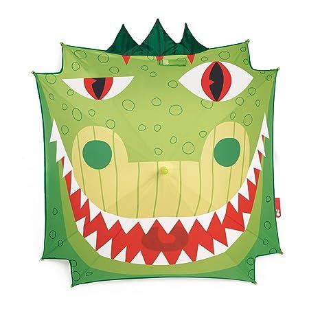 Janod - Dragón Paraguas clásico de 72 cm, Color Verde