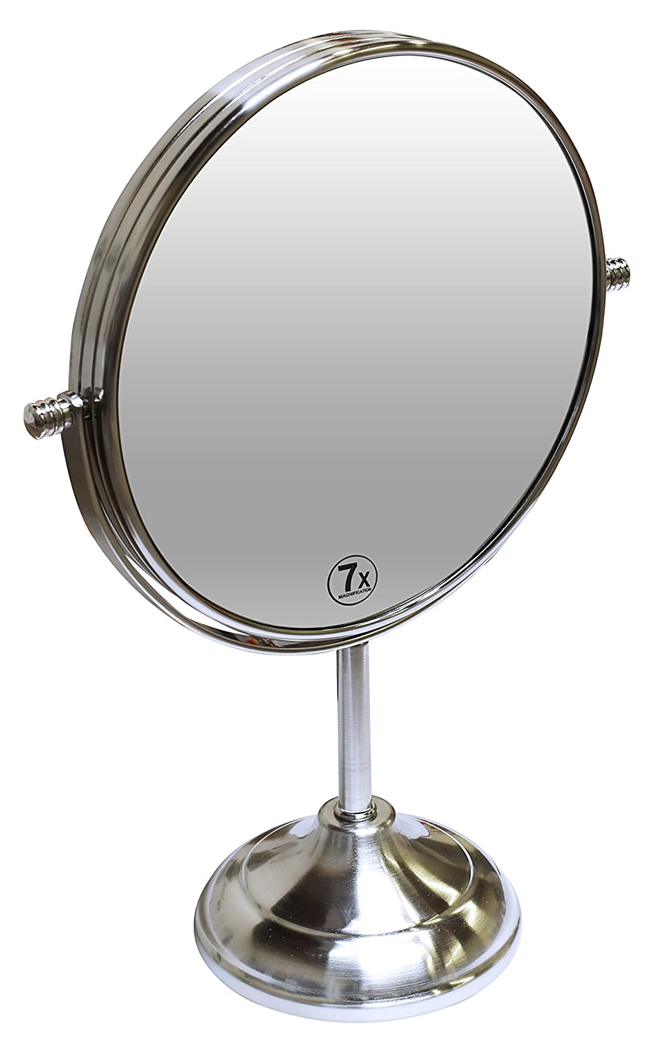 Amazon.com : Decobros 8 Inch LARGE Tabletop Two Sided Swivel Vanity Mirror  With 7x Magnification, 13 Inch Height : Beauty