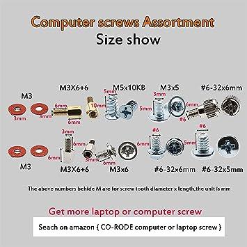Quality 270 pcs Desktop PC Computer Laptop Assortment Screw kit Pack /& Free Case