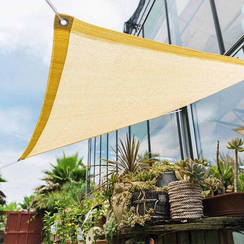 Sand 2x2m CJC Voiles d'ombrage Filet D'ombrage Crème Solaire 85% De Tissu D'ombre Toile D'ombre Prougeection Solaire Jardin Balcon Abri Voiture 180g m² (Couleur   Sand, Taille   5x3m)
