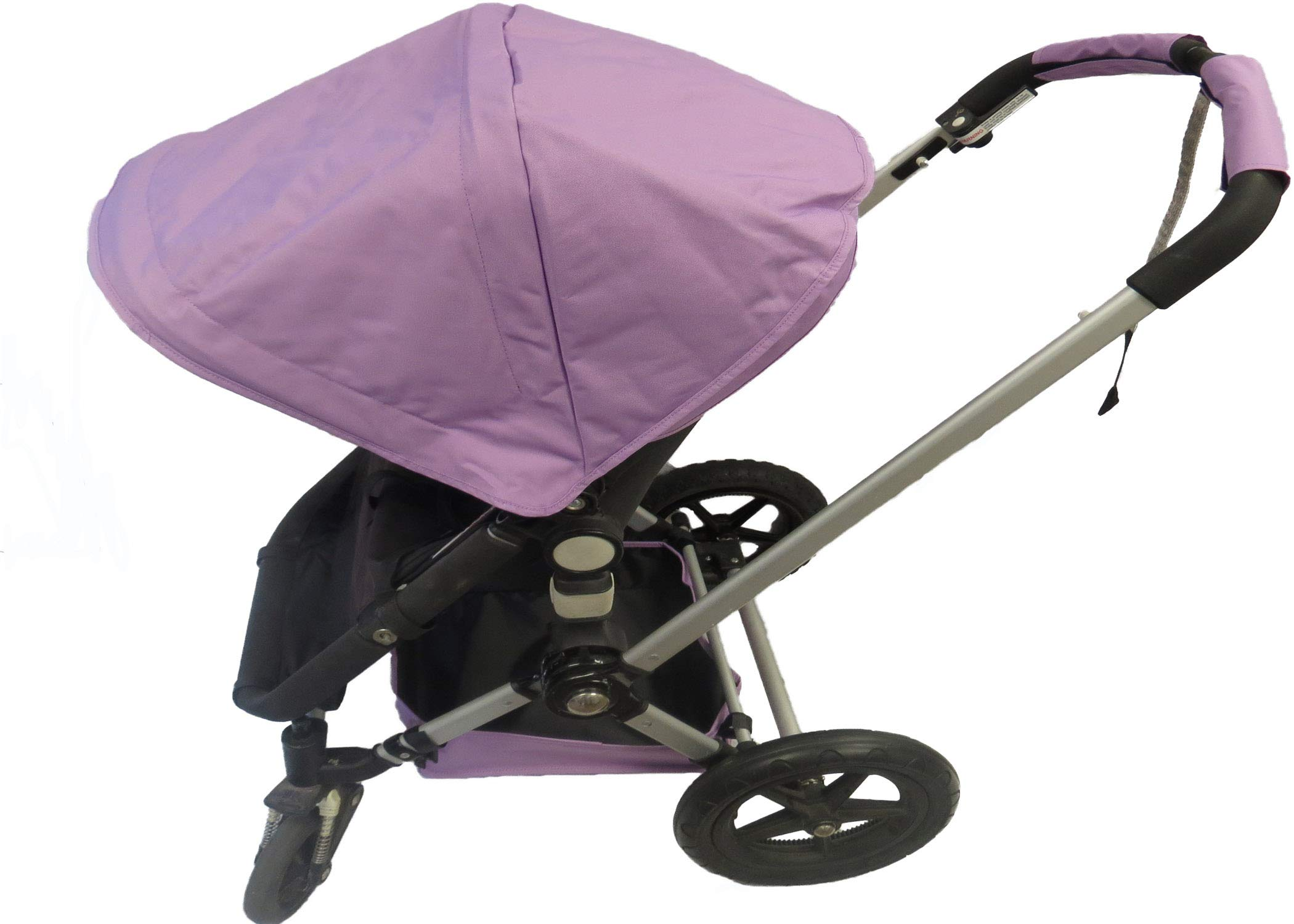 Light Purple Sun Shade Canopy with Wires and Under Seat Storage Basket Plus Free Handle Bar Covers for Bugaboo Cameleon 1, 2, 3, Frog Baby Child Strollers by Ponini (Image #1)