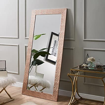 df8792520561 Amazon.com  Naomi Home Mosaic Style Mirror Rose Gold 61