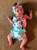Cute Adorable Floral Romper Baby Girls Sleeveless