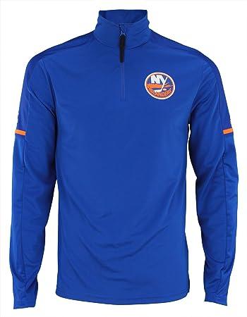 d069e88f9f165 adidas New York Islanders NHL Men s 2017 Authentic Pro 1 4 Zip Wind Shirt (