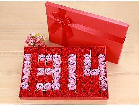 77 piezas 520 forma jabón de flores con caja de regalo ...