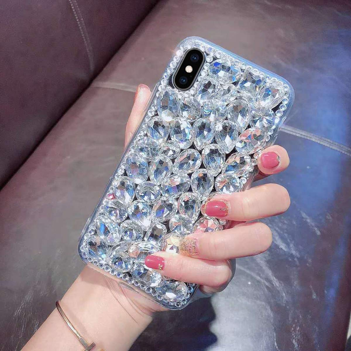 Luxus Glitzer H/ülle f/ür Galaxy Note 8 Misstars 3D Bling Diamant Handyh/ülle Transparent Hart PC R/ückschale mit Silikon TPU Rahmen Schutzh/ülle f/ür Samsung Galaxy Note 8 Silber