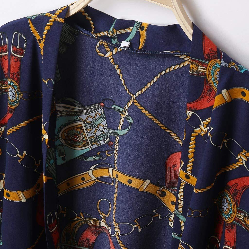 XEDUO Blouse Women Summer Printing Open Cape Casual Coat Blouse kimono Jacket Cardigan