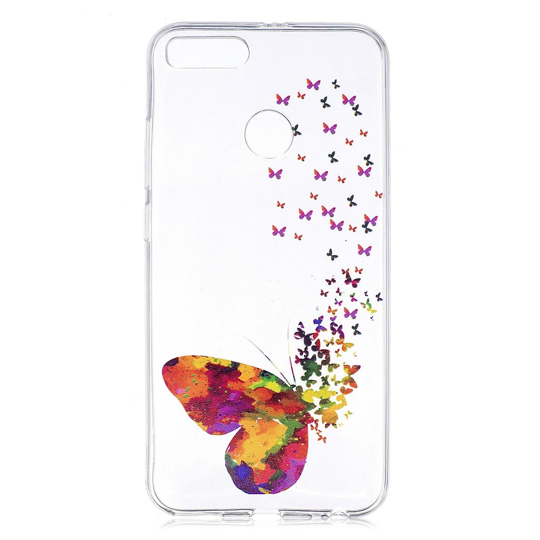 5.5 Xiaomi Mi A1 Trasparente Colorato Piuma Uccello TPU Silicone Morbido Protettivo Shell Coperchio Caso Bumper Protettiva Case Cover IJIA Custodia per Xiaomi Mi 5X