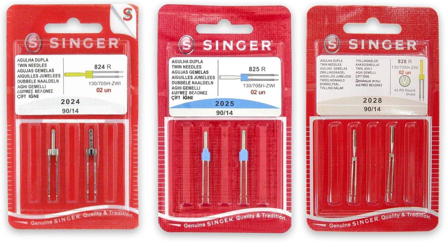 Pack de Agujas Dobles para Máquinas de Coser Singer 2024, 2025 y ...