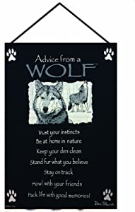 Manual Advice From a Wolf Woven X Your True Nature Wall Hanging, 17 X 26-Inch