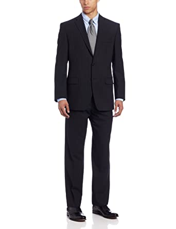 Calvin Klein Men's Mini Black Pinstripe Slim-Fit Suit at Amazon ...