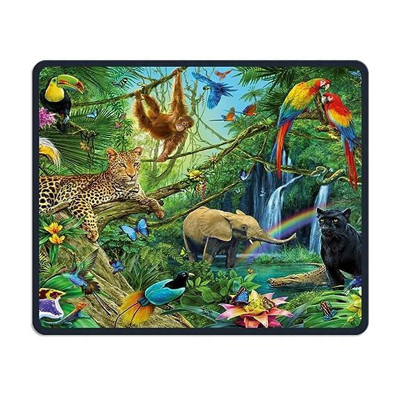 31151cbb17d36 Amazon.com: Mouse Pads Animals Mouse Mat Stitched Edge Non-Slip ...