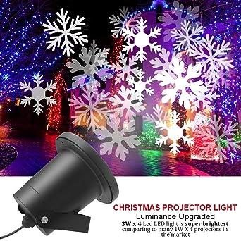 Weihnachtsbeleuchtung Für Draußen.Cycmia Wasserdichte Außen Led Weihnachtsbeleuchtung 20m X 20m Breite Lichtabdeckung Keine Störenden Kabel Oder Glühbirnen Snowflake Light