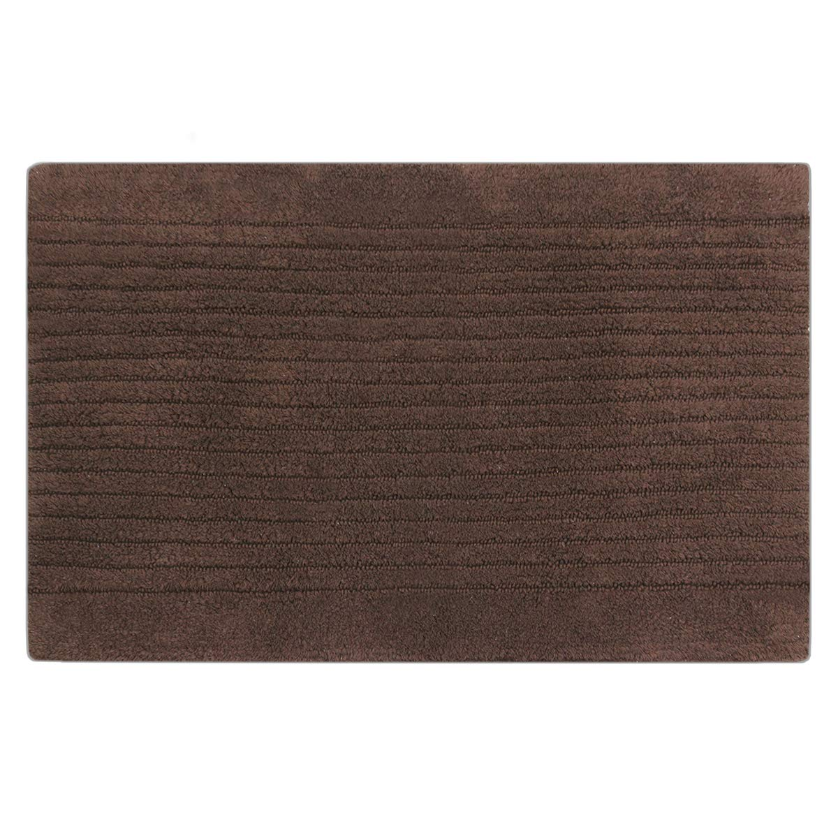 Clairvoyance Bath Mat, Reversible Bathroom Rug, Soft Cotton- Water Absorbent (21'' x 34''), Brown by Clairvoyance