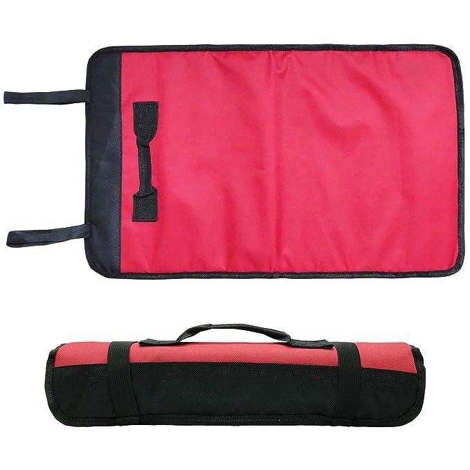 HVAC Repairman bolsa de 22 bolsillos interiores Framer Organizador de herramientas enrollable 15 bolsillos para electricista Contratista Craftsman