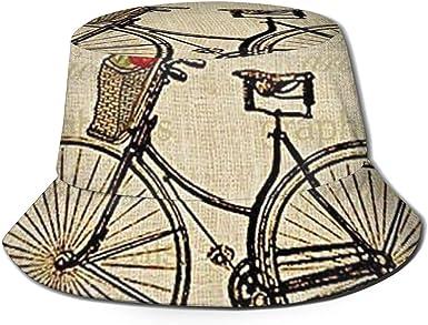 Bicicleta Vintage con Flores Imagen Rectángulo Unisex Sombrero de ...