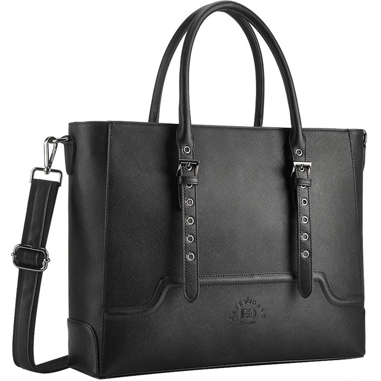 Tote Handbags with Drawstring, PU Leather Designer Handbags Tote Bag for Women Girls Laptop Bag for Women EaseGave