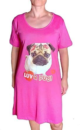 TopsandDresses Animal Print Nightdresses Nighties Womens Sizes 8-10 Pug Pink f586ba424