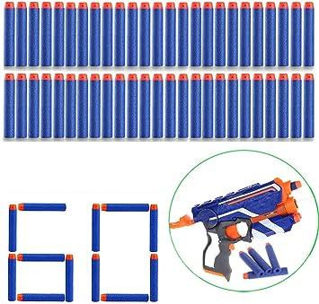 60PCS GUN SOFT REFILL BULLETS GUN SOFT REFILL BULLETS DARTS 7.2 ROUND HEAD UK