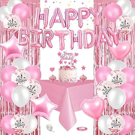 Special Event Decor Table Overlay Birthday Decor Pink Birthday Paper Table Overlay Table Decor