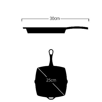 roeth No1 esmaltada parrilla de hierro fundido 25 X 25 CM ...
