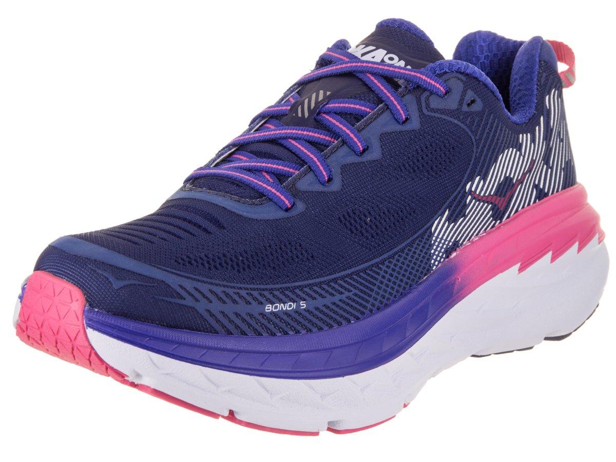 HOKA ONE ONE Women's Bondi 5 Running Shoe B072366MYQ 6 B(M) US|Blueprint/Surf the Web